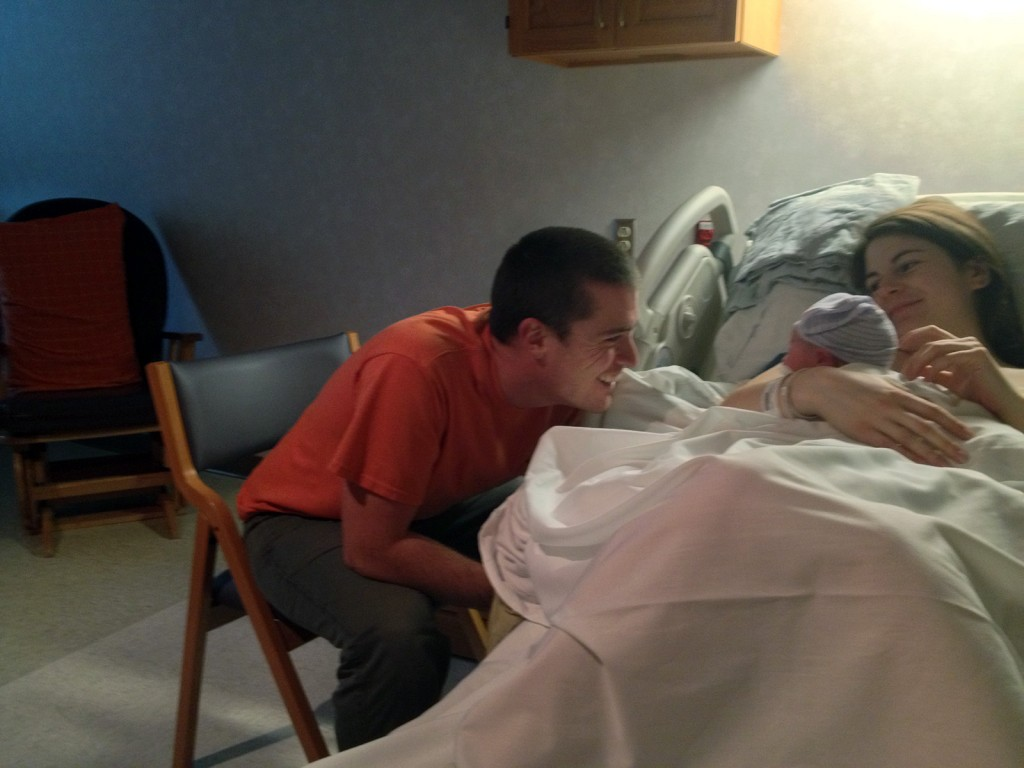 Caleb is completely mesmerized by the new addition to their family!