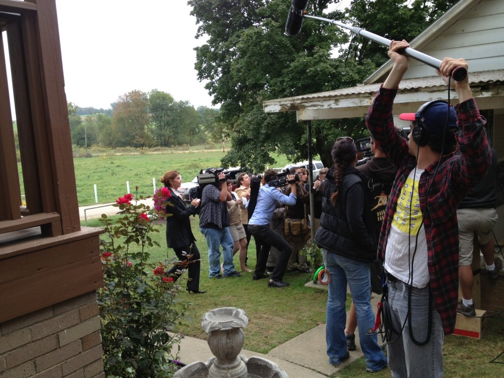 Paparazzis on the set of Love Finds You in Sugarcreek, Ohio