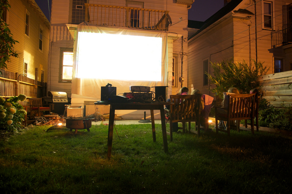 """Outdoor Movie Fun! I know this is kind of on the small side, but I liked the picture :) Source: <a href=""""http://www.flickr.com/photos/plural/4940386490/"""" srcset="""