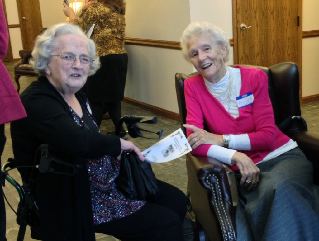 Ruth Miller (My Mother-in-law) and June Bentley greeting everyone coming through the door!