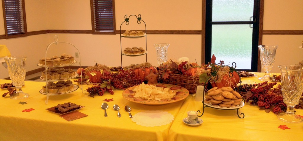 Just a part of the awesome spread they had prepared!
