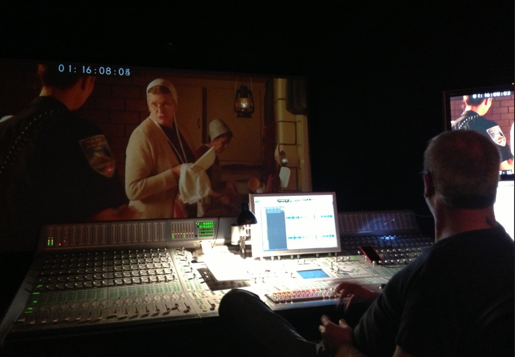 Inside the sound booth - working on the audio for Love Finds You in Sugarcreek, Ohio. In this scene Bertha (Kelly McGillis) is telling Rachel (Sarah Lancaster) that they will not compromise when it comes to doing God's will.