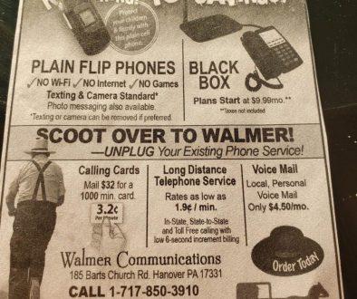 Amish Telephone Advertisement